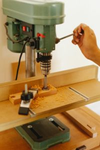 Drill Press and Wood