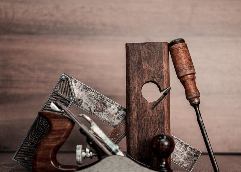 Woodworking square and tools